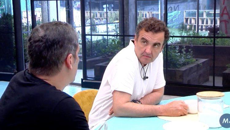 Antonio Montero hablando de su nominación con Gustavo González en 'Sálvame Okupa'