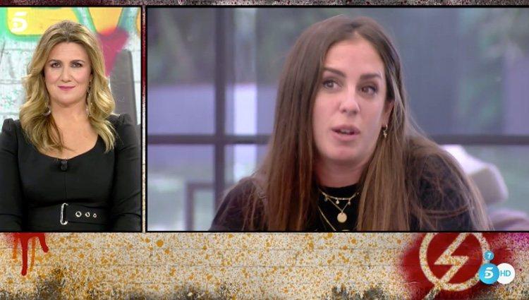 Anabel Pantoja hablando de sus confesionarios en 'Sálvame Okupa' / Telecinco.es