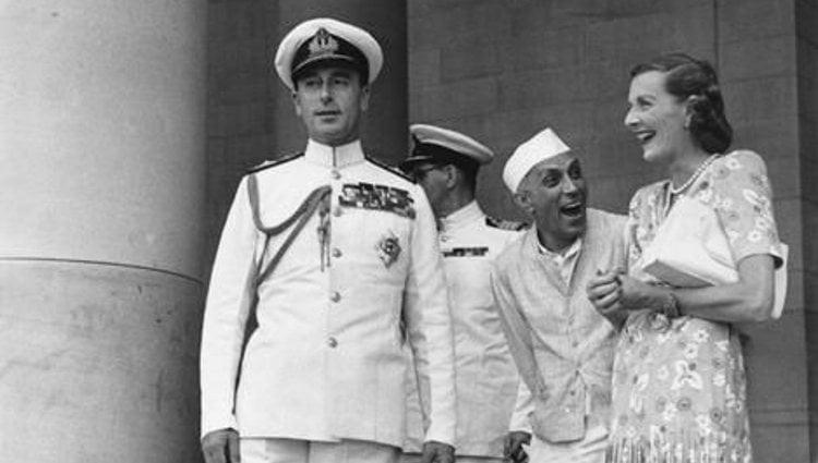 Louis y Edwina Mountbatten con Nehru | Pinterest