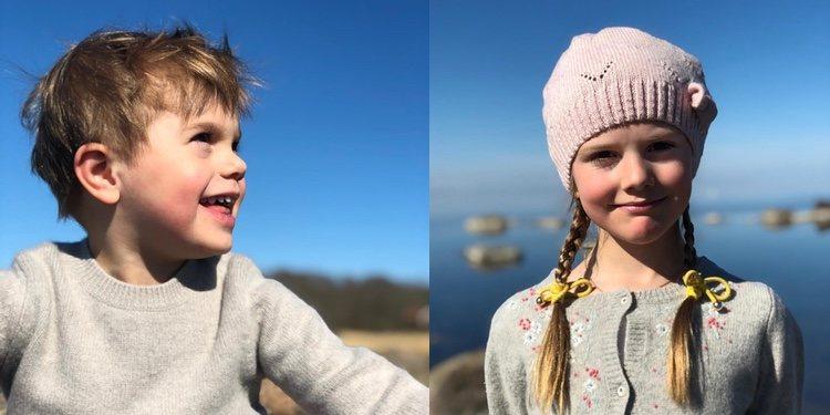 Estela y Oscar de Suecia en Öland