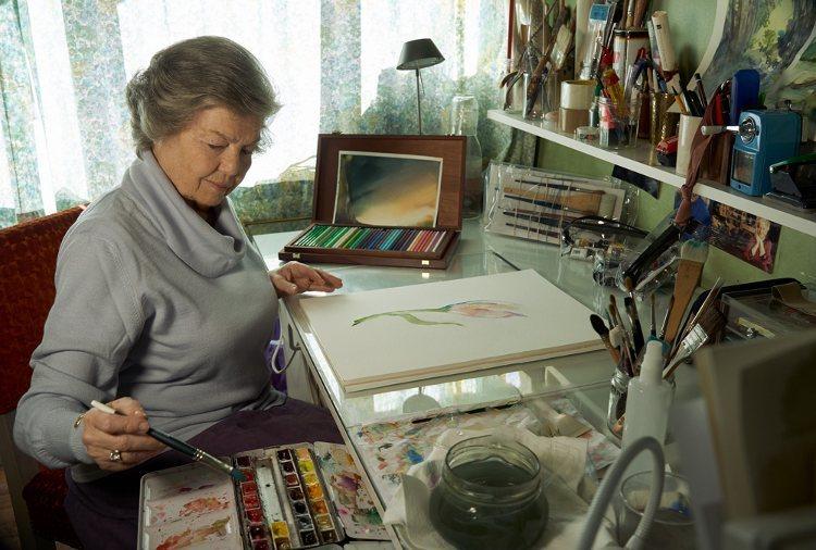 La Princesa Ana de Orleans pintando en su estudio   annedorleans.com