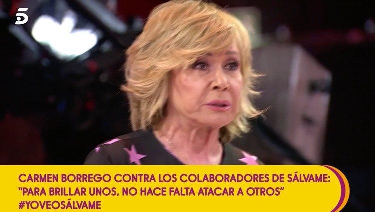 Mila Ximénez estalla contra Carmen Borrego   Foto: telecinco.es