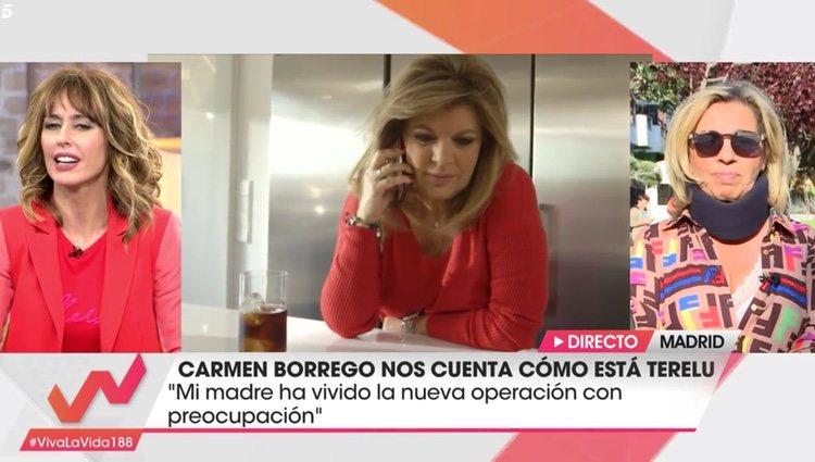 Borrego cuenta la reacción de María Teresa Campos | Foto: Telecinco.es
