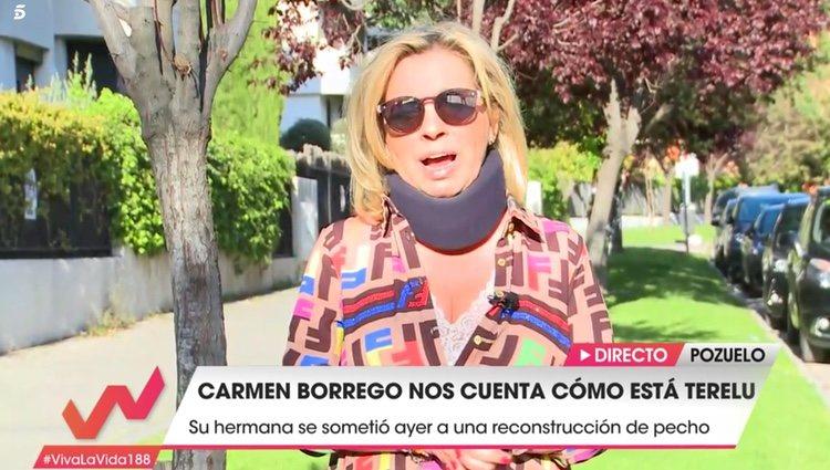 Carmen Borrego da el último parte sobre el estado de salud de Terelu | Foto: Telecinco.es