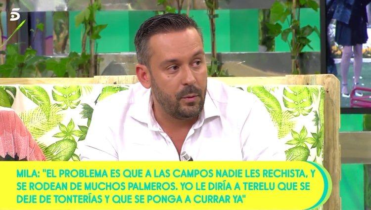 Kike Calleja defendiendo a las Campos / Telecinco.es