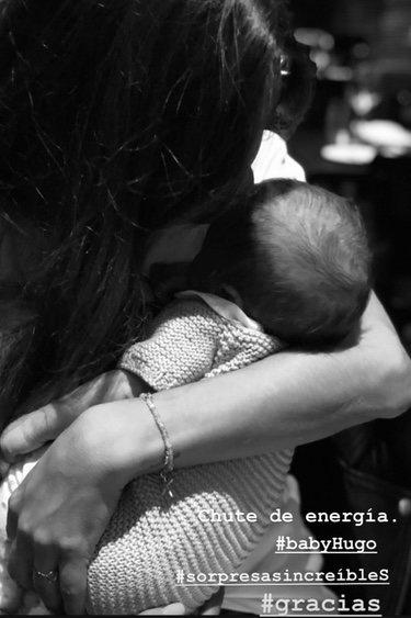 Sara Carbonero con Hugo, el hijo de Isabel Jiménez/ Foto: Instagram