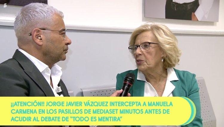 Jorge Javier Vázquez y Manuela Carmena en 'Sálvame' | Foto: Telecinco.es