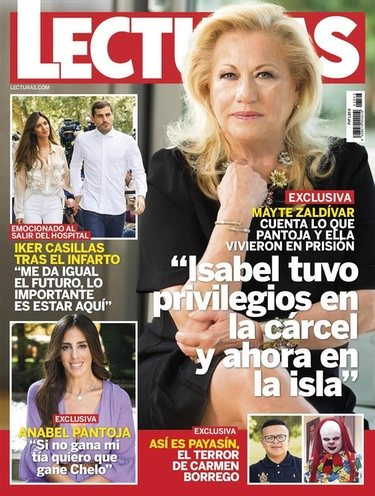 Mayte Zaldívar hablando de Isabel Pantoja en Lecturas