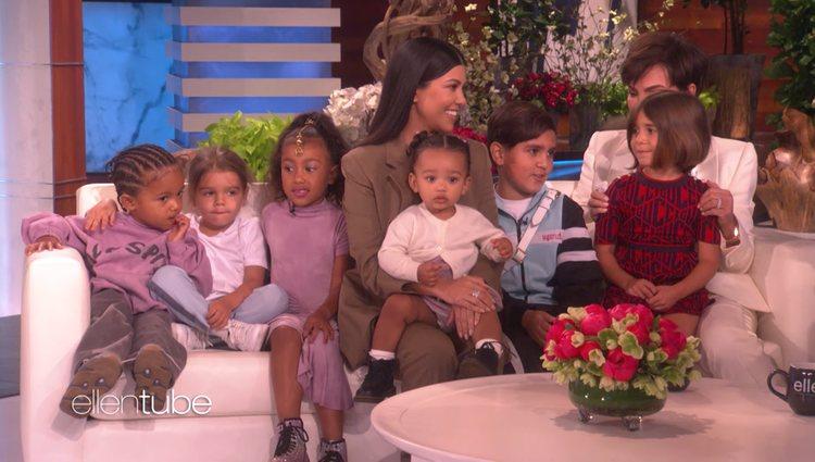 Kourtney K. y Kris Jenner en el programa de Ellen Degeneres