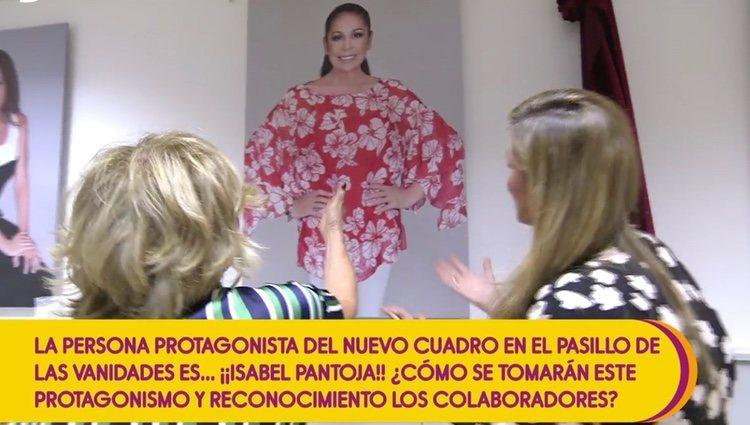 Isabel Pantoja en el 'paseo de las estrellas' | Foto: telecinco.es