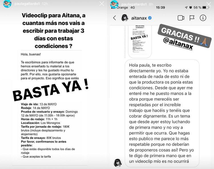 Las imágenes que compartió Paula Gallardo en su cuenta de Instagram