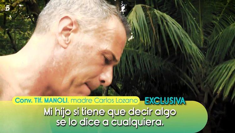 La madre de Carlos Lozano habla en 'Sálvame' | Foto: Telecinco.es