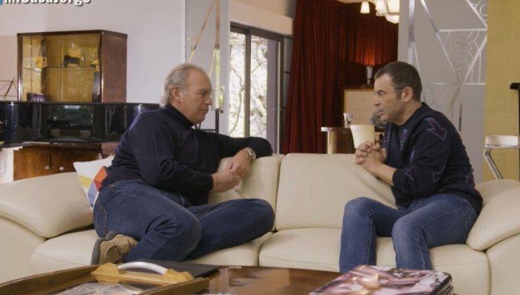 Bertín Osborne y Jorge Javier Vázquez durante la entrevista en 'Mi casa es la tuya'/Foto:Mitele