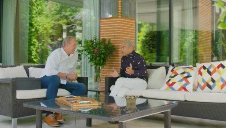Jorge Javier Vázquez durante su entrevista en 'Mi Casa es la tuya'/Foto:Mitele