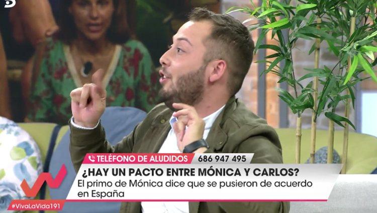 José Antonio Áviles da la exclusiva de las declaraciones de Richi / foto: telecinco.es