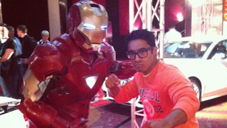 Pua Magasiva ('Power Rangers Ninja Storm') con Iron Man / Foto: Instagram