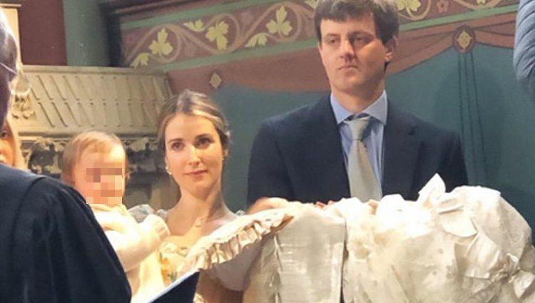 Ernesto Augusto y Ekaterina de Hannover en el bautizo de Welf Augusto   Foto: Instagram