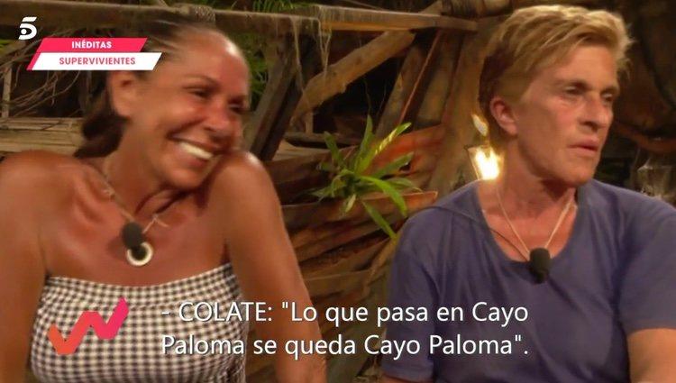 La sonrisa de Pantoja al hablar Colate de su noche juntos / Telecinco.es