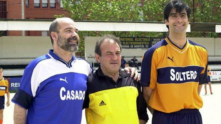 Jorge Fernández junto a Antonio Resines y Jesús Bonilla en un capítulo de la primera temporada de 'Los Serrano' | telecinco.es