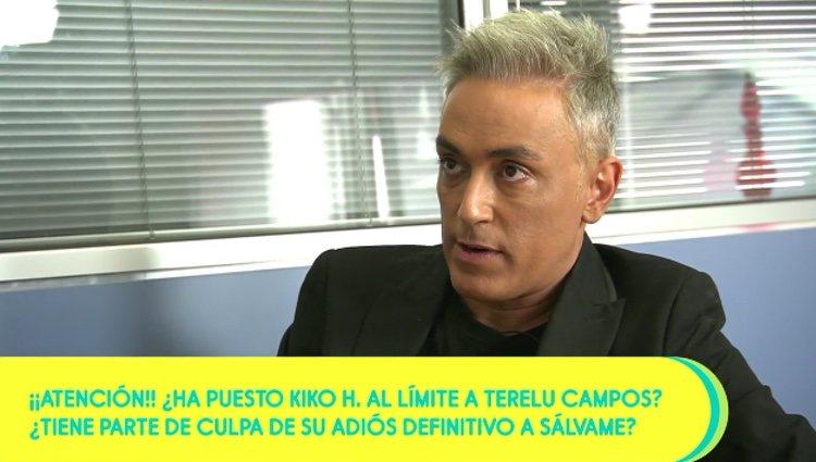 Kiko Hernández hablando de la marcha de Terelu Campos / Telecinco.es