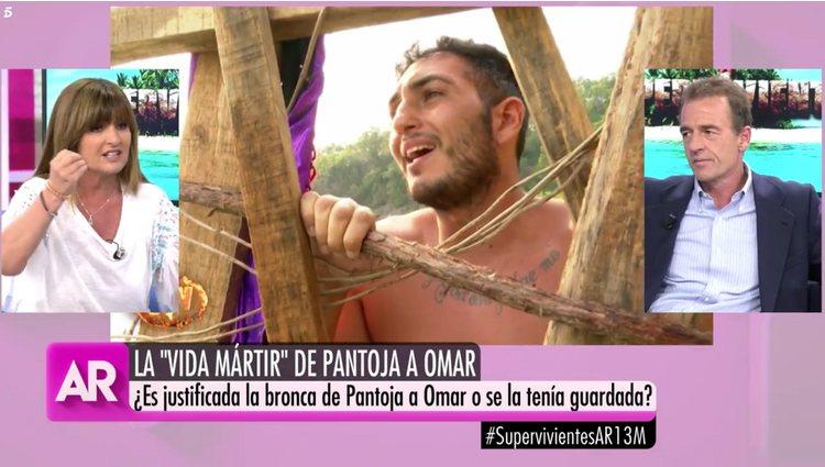 Los colaboradores de Ana Rosa analizando el la pelea | Foto: Telecinco.es