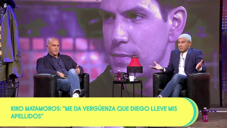 Kiko Matamoros y Jorge Javier Vázquez en 'Sálvame'