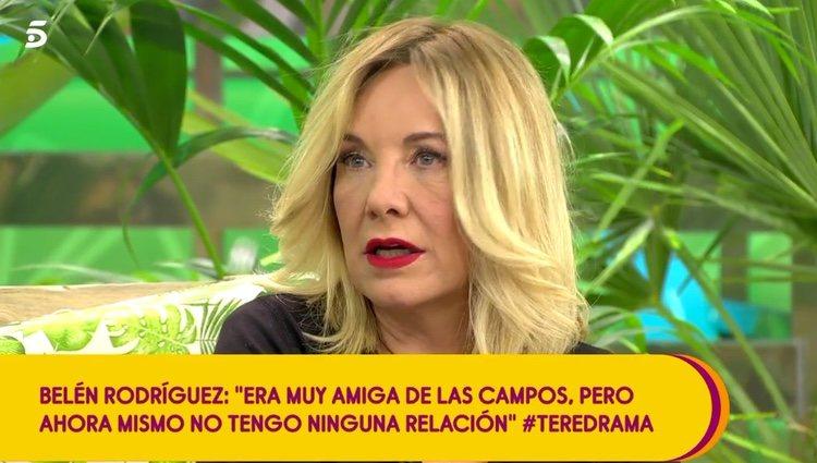 Belén Rodríguez, muy enfadada con Carmen Borrego / Telecinco.es