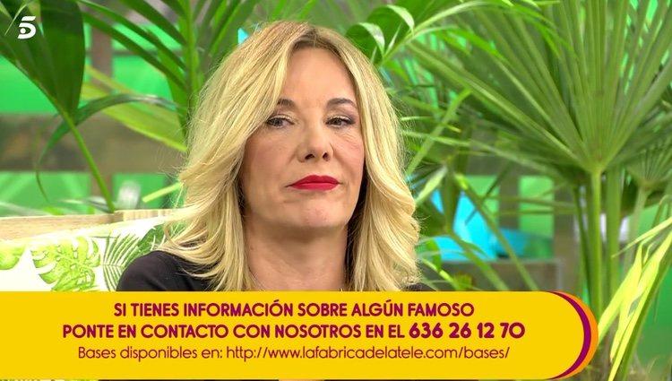 Belén Rodríguez mandando un mensaje a las Campos / Telecinco.es