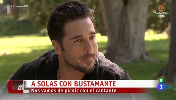 David Bustamante en el programa 'Corazón'/ Foto: La 1