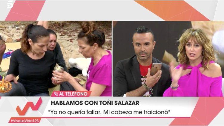 Llamada telefónica de Toñi Salazar a 'Viva la vida'