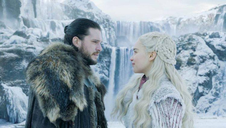 Jon y Daenerys al inicio de la octava temporada
