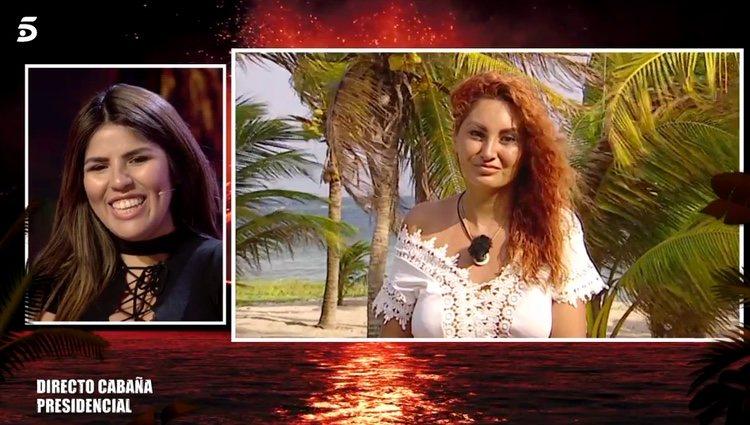 Chabelita hablando con Aneth tras su expulsión / Telecinco.es