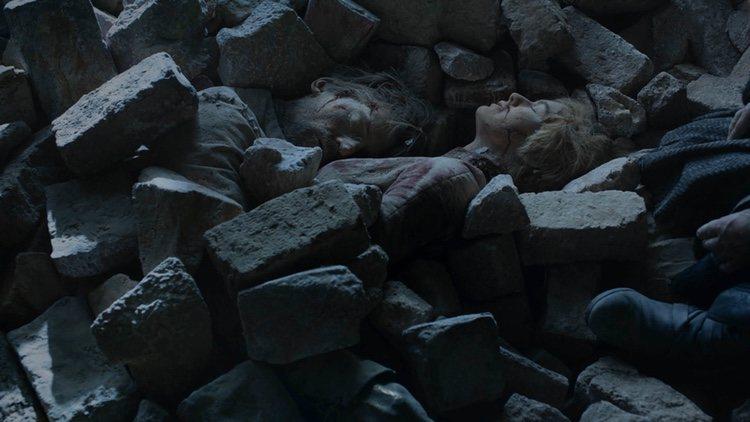 Jaime y Cersei Lannister murieron aplastados por los cascotes tras el ataque del dragón de Daenerys