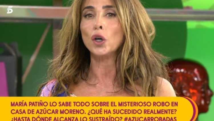 María Patiño en 'Sálvame'/foto:telecinco.es