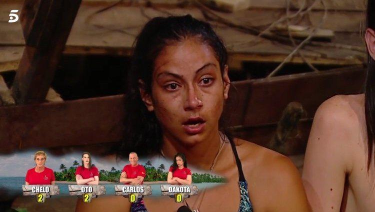 Dakota, muy enfadada con Jorge Javier en 'Supervivientes' l Foto: telecinco.es