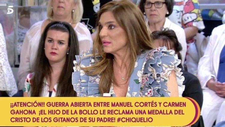 Raquel Bollo en 'Sálvame' aclarando su situación/ Foto: Telecinco.es