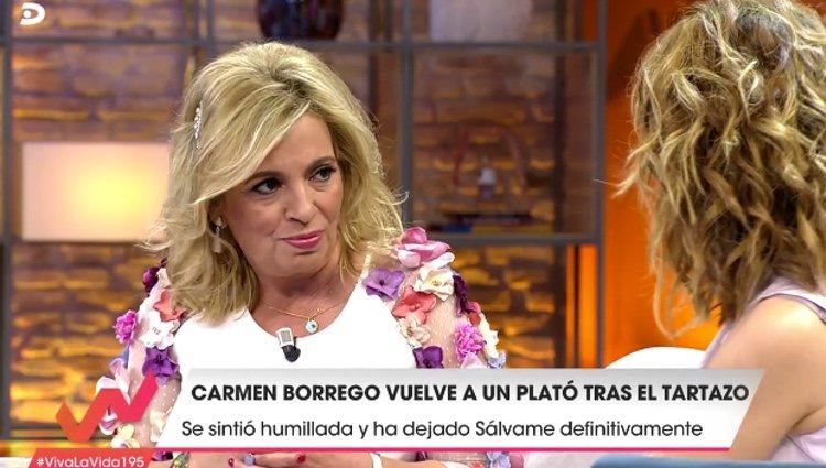 Carmen Borrego se convierte en la nueva colaboradora de 'Viva la vida' / Telecinco.es
