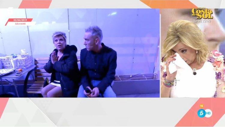 Carmen Borrego se rompe al ver las imágenes de su hermana / Telecinco.es