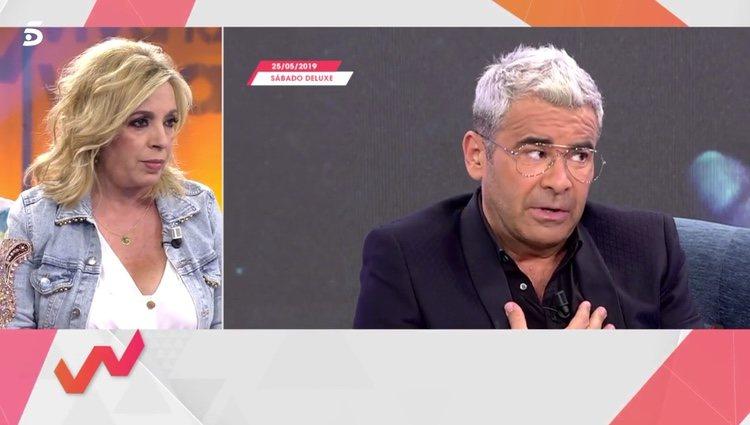 Carmen Borrego escuchando a Jorge Javier Vázquez / Telecinco.es