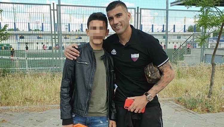 José Antonio Reyes con su hijo / Foto: Instagram