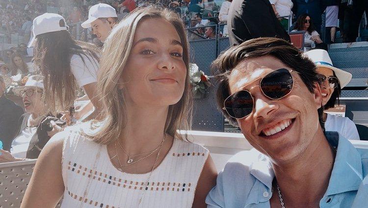 María Pombo y Pablo Castellano en el Mutua Madrid Open 2019 | Foto: Instagram