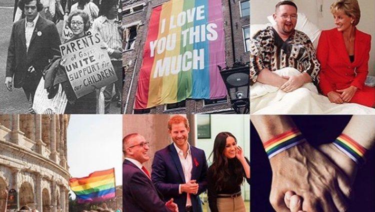 Collage realizado por los Duques de Sussex con motivo del mes del Orgullo | Foto: Instagram