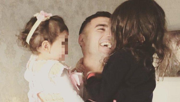 José Antonio Reyes con sus hijas Noelia y Triana | Instagram