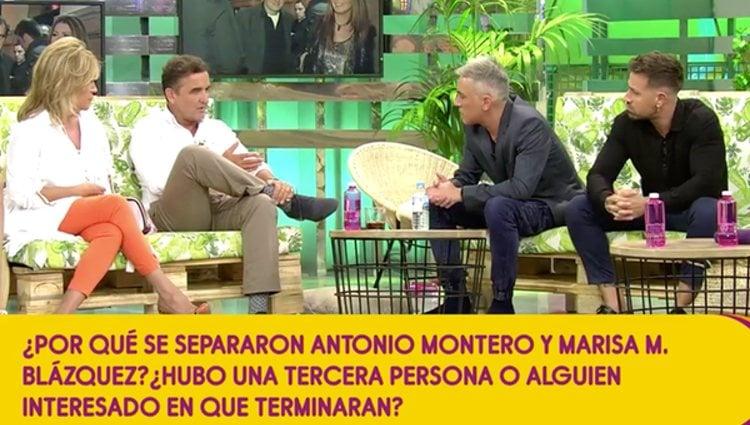 Los colaboradores de 'Sálvame' hablando de la relación de Montero | Foto: Telecinco