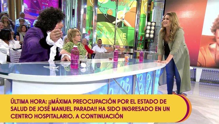 Carlota Corredera reprendiendo el comportamiento de Rafa Mora en 'Sálvame' Foto: Telecinco
