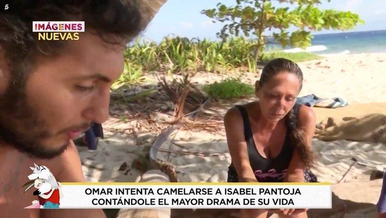 Omar Montes hablando de su familia con Isabel Pantoja l Foto: telecinco.es
