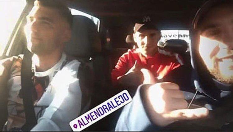 José Antonio Reyes y sus primos momentos antes del accidente / Foto: Instagram