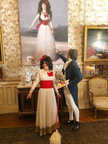 Eugenia Martínez de Irujo y su marido disfrazados de Duquesa de Alba y Goya   Instagram @eugeniamartinezdeirujo