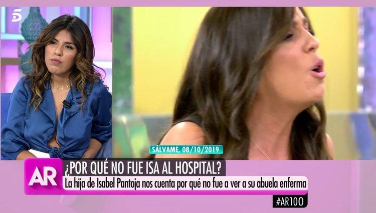 Chabelita escuchando las palabras de su prima / Telecinco.es