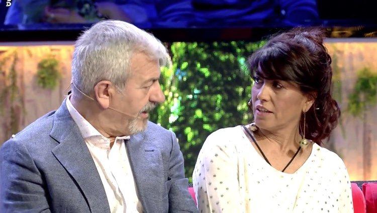 Alicia, madre de Fabio hablando sobre su relación con la madre de Violeta Foto: Telecinco
